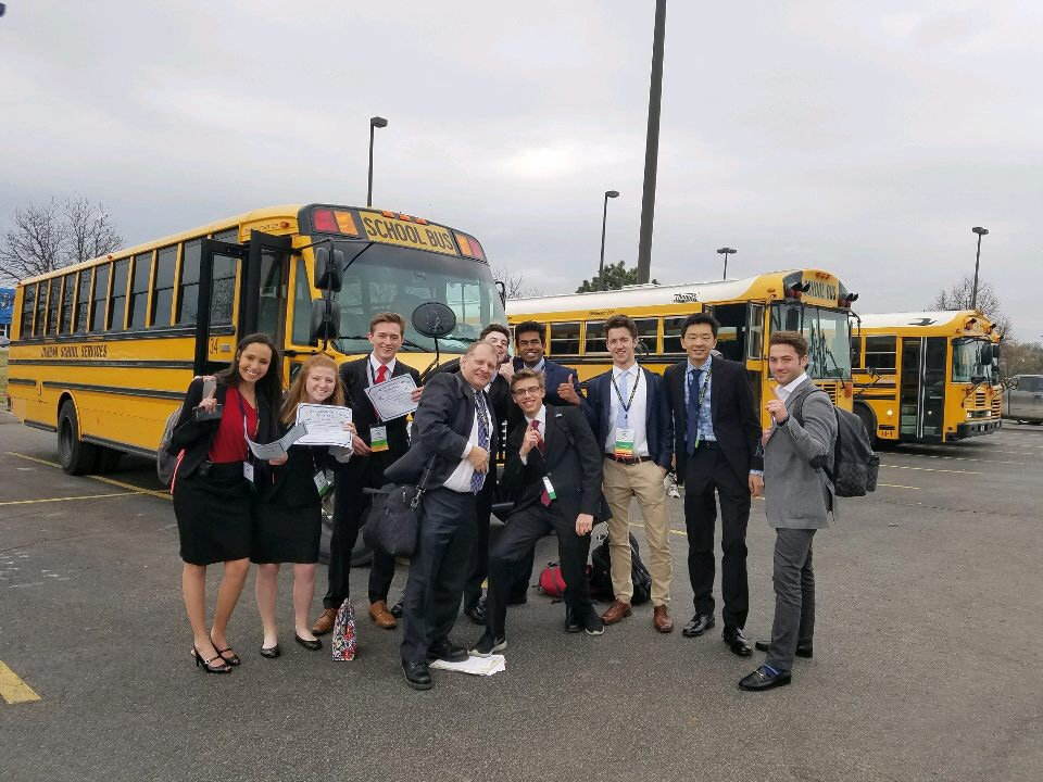 FBLA participants pose for a photo.