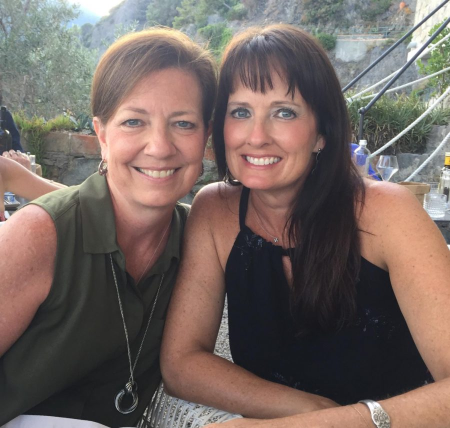 Jodi Johnson and Caroline Wills while vacationing throughout Europe.
