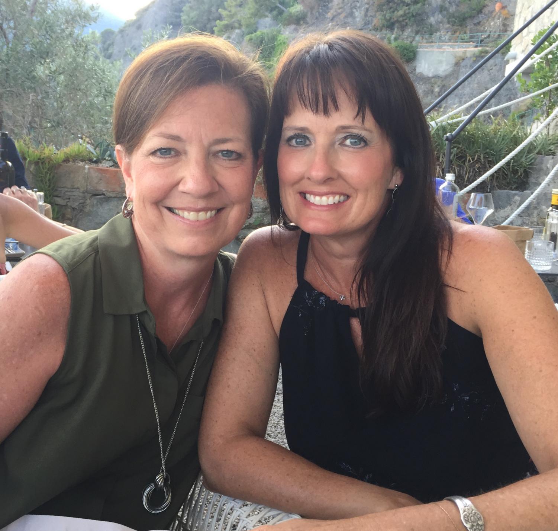 Jodi Johnson and Caroline Wills while vacationing throughout Europe.