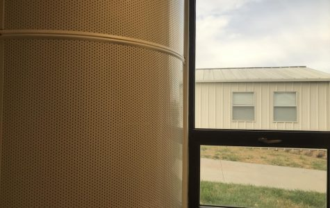 One of the air conditioning units in the school.