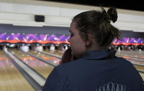 Tristen Cummings prepares to bowl.