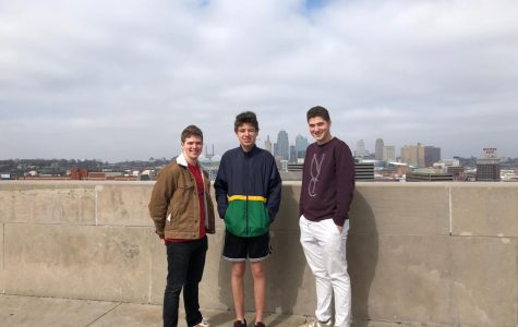 Senior Michael Adamson and French exchange student Eliott Jacquot visit the World War One Museum with junior Nick Buffo