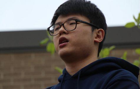 Junior Daniel Park performing his piece Chink.