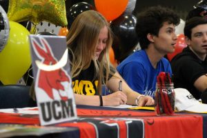 Seniors Partake in Spring Sports and Activities College Signing Ceremony