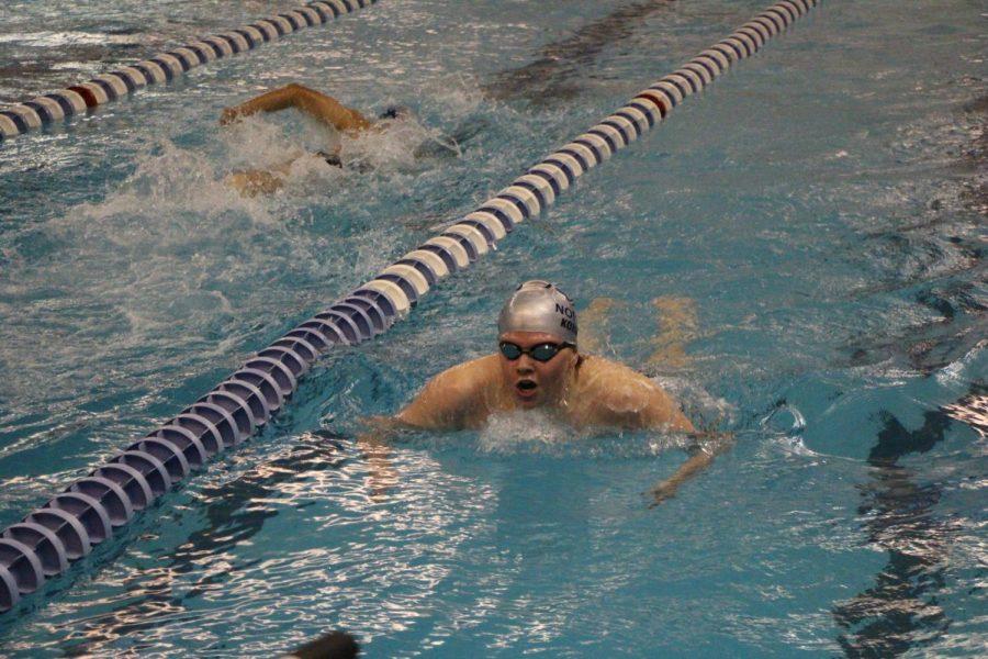 Burton Kohrs swimming breath stroke.