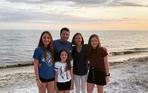 Junior Emily Bechard and her family on vacation during Spring Break, before the lockdown order began.